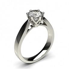 Bague de fiançailles large solitaire diamant rond serti 6 griffes rondes - CLRN24_01