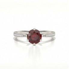 White Gold Gemstone Diamond Engagement Rings