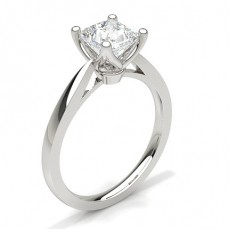 Princess Platinum Solitaire Diamond Rings
