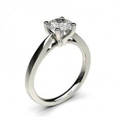 Bague de fiançailles fine solitaire diamant serti 4 griffes profil d