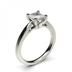 Bague de fiançailles fine solitaire diamant serti 4 griffes profil d - CLRN25_03