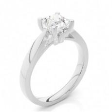Bague de fiançailles standard solitaire diamant serti 4 griffes profil d - CLRN25_02