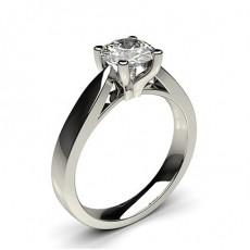 Bague de fiançailles large solitaire diamant serti 4 griffes profil d - CLRN25_01