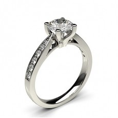 4 Prong Setting Medium Side Stone Engagement Ring - HG0508_A20