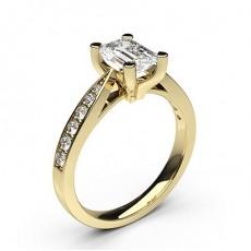 4 Prong Setting Medium Side Stone Engagement Ring - CLRN25_05