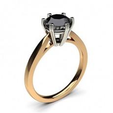6 Prong Setting Thin Engagement Black Diamond Ring - CLRN26_04