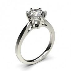 Bague de fiançailles fine solitaire diamant serti 6 griffes profil cœur - CLRN26_03