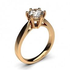 Bague de fiançailles standard solitaire diamant serti 6 griffes profil cœur - CLRN26_02