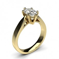 Oval Yellow Gold Classic Solitaire Engagement Rings