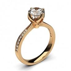 4 Prong Setting Medium Side Stone Engagement Ring - CLRN27_05