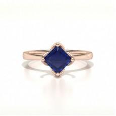 Rose Gold Sapphire Diamond Engagement Rings