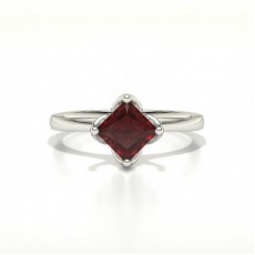4 Prong Setting Ruby Engagement Ring