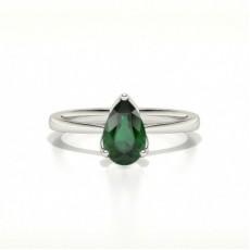 Platin Smaragd Diamantringe