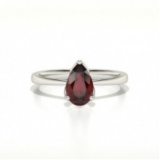 Pear 3 Prong Setting Ruby Engagement Ring