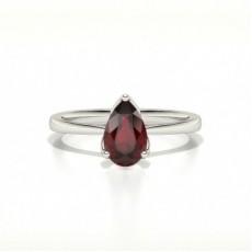 White Gold Ruby Diamond Engagement Rings