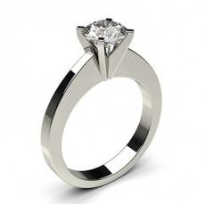 Bague de fiançailles standard solitaire diamant serti 4 griffes carrées - CLRN29_01
