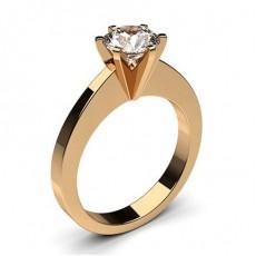 Bague de fiançailles standard solitaire diamant rond serti 6 griffes carrées - CLRN30_01