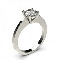 4 Prong Setting Thin Engagement Ring - CLRN32_02
