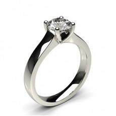 Bague de fiançailles large solitaire diamant serti 4 griffes rondes - CLRN35_01