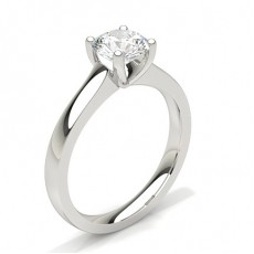 White Gold Round Diamond Engagement Ring (Available from 0.20ct. to 3.00ct.)