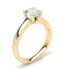 White Gold Round Diamond Engagement Ring - CLRN35_02