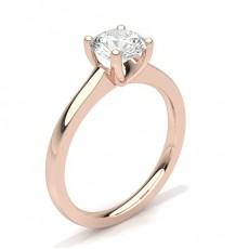White Gold Round Diamond Engagement Ring - CLRN35_03