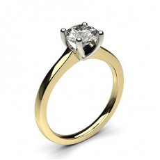 4 Prong Setting Thin Engagement Ring - CLRN35_03