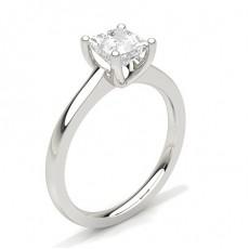 Bague de fiançailles fine solitaire diamant serti 4 griffes rondes - CLRN35_03