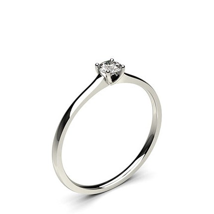 4 Prong Setting Plain Engagement Ring