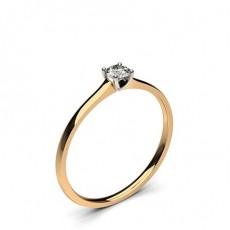 4 Prong Setting Plain Engagement Ring - CLRN35_04