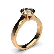 Großer Diamant Ring in einer Zargenfassung  - CLRN36_01