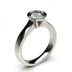 Full Bezel Setting Large Engagement Ring - CLRN36_01