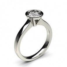 Bague de fiançailles standard solitaire diamant rond serti clos - CLRN36_02