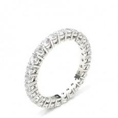 4 Prong Setting Full Eternity Diamond Ring - HG0564_P4