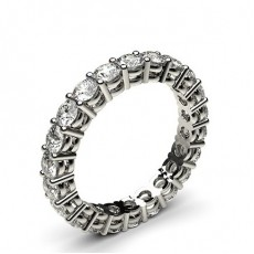 4 Prong Setting Full Eternity Diamond Ring (Available from 2.00mm to 3.90mm)