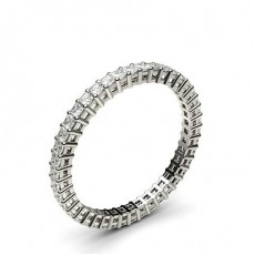 Princess White Gold Diamond Eternity Rings