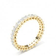 Alliance tour complet diamant princesse serti 4 griffes - HG0593_43
