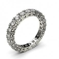 4 Prong Setting Full Eternity Diamond Ring - HG0637_P2