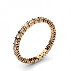 Rose Gold Full Diamond Eternity Rings