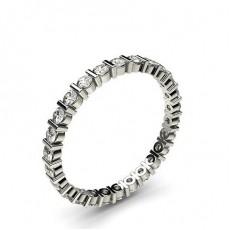 White Gold Full Diamond Eternity Rings