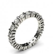 Eternity Diamant Ring in einer Balkenfassung - CLRN39_02