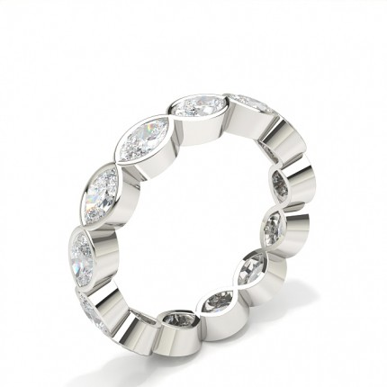 Bezel Setting Full Eternity Diamond Ring