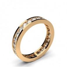 Round Rose Gold Diamond Eternity Rings