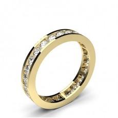 Full Eternity Yellow Gold Diamond Rings