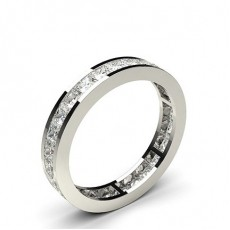 Platinum Full Diamond Eternity Rings