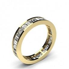 Alliance tour complet diamant baguette serti rail - HG0554_43