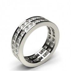 Channel Setting Full Eternity Diamond Ring - HG0561_42