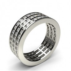 Eternity Diamant Ring in einer Kanalfassung