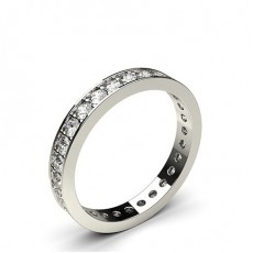Pave Setting Full Eternity Diamond Ring (Available from 1.80mm to 4.00mm)