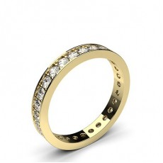Full Eternity Yellow Gold Diamond Rings